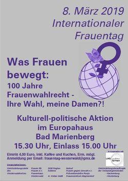 Frauentag 2019 - Europahaus Bad Marienberg