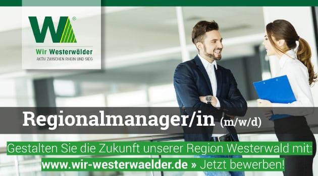 Stellenausschreibung Regionalmanager/in (m/w/d) - Wir Westerwaelder 052019