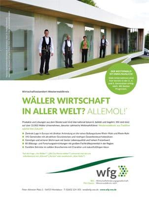 Standortmarketing Anzeige Westerwald - Schlag&Proebstl