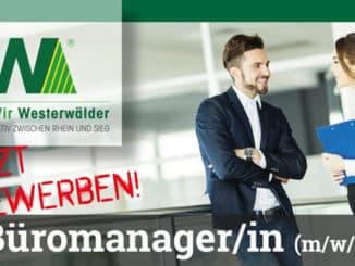 Stellenanzeige Bürokraft Geschäftsstelle Dierdorf - Wir Westerwälder - Teaser