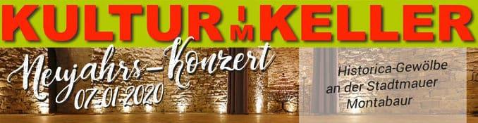 Neujahrskonzert Gewölbekeller Montabaur, 07.01.2020