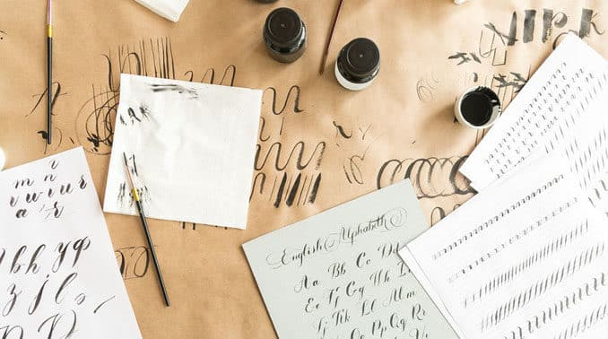 Handlettering Kalligraphie
