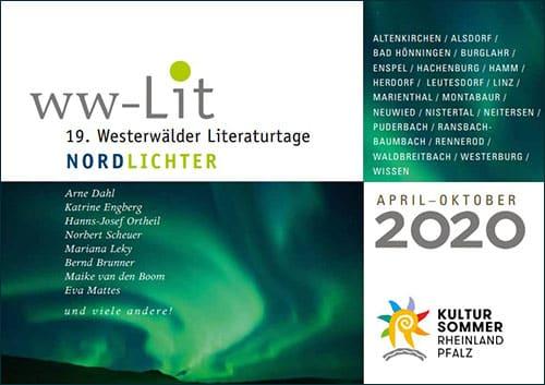 Programmheft Westerwälder Literaturtage 2020