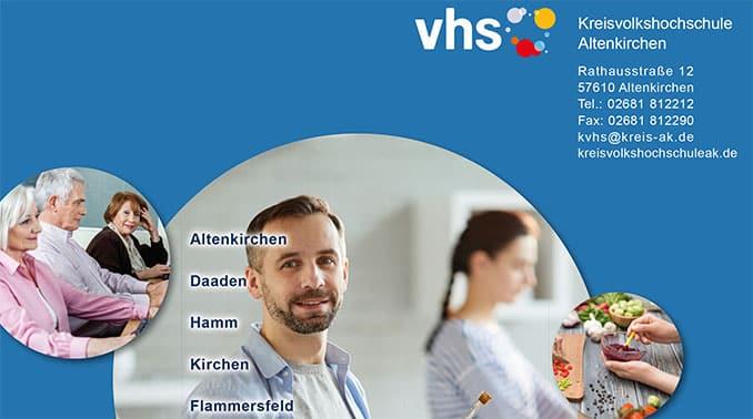 Programm VHS Altenkirchen 2 Halbjahr 2020