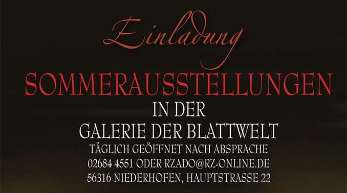 Sommerausstellungen in der Galerie Blattwelt