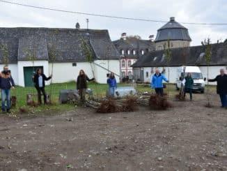 Erhalt und Ergänzung des bedrohten Lebensraums Streuobstwiese Obstbaumverteilung auf dem Gelände der Abtei Rommersdorf