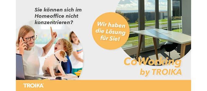 CoWorkingSpace bei TROIKA im Medienpark Wersterwald