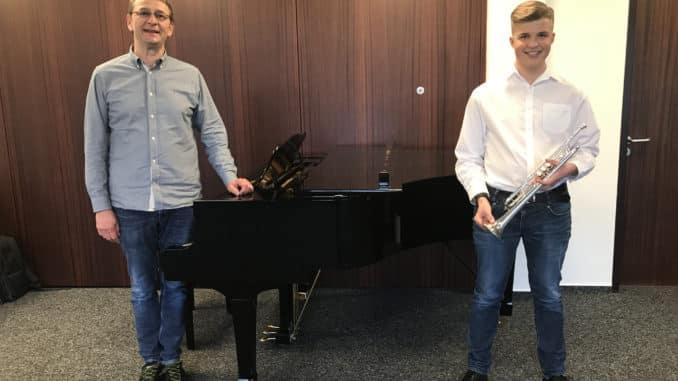 """1. Platz beim Landeswettbewerb """"Jugend Musiziert"""": Trompeter Ben Scheel ist Schüler der Kreismusikschule Altenkirchen"""