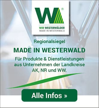 Regionalsiegel Made in Westerwald - Wir Westerwälder Regionalmarketing