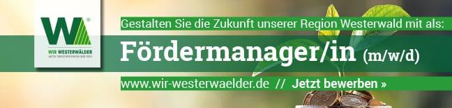 Stellenausschrfeibung Fördermanager Wir Westerwälder gAöR